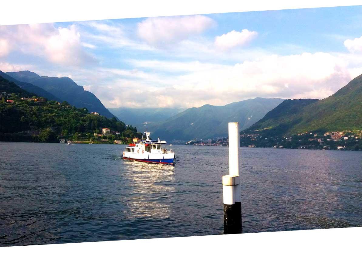 ferry on lake como