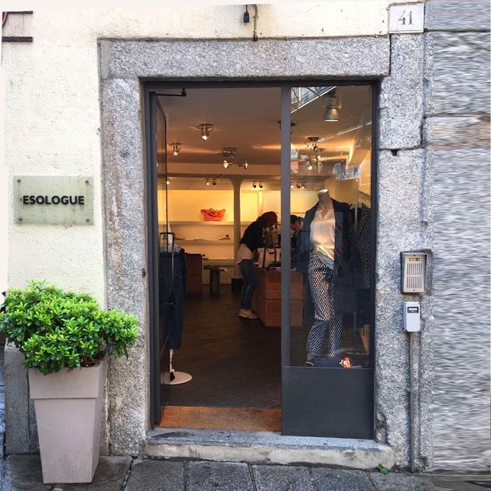 Esologue womenswear shop in Como