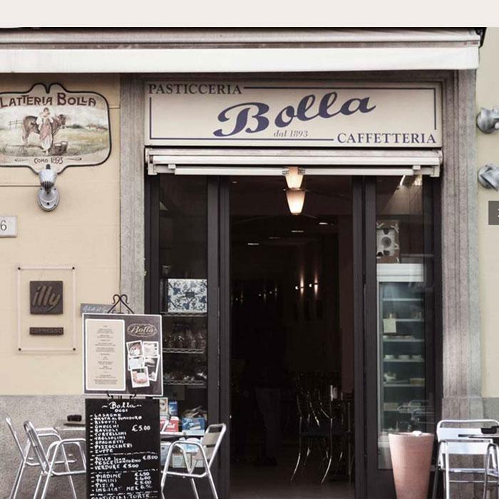 Shopping in Como - Bolla pastry shop
