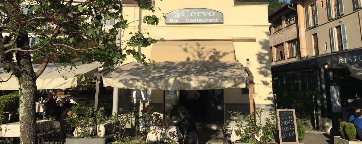 Cervo Restaurant in Como, with terrace on the lake