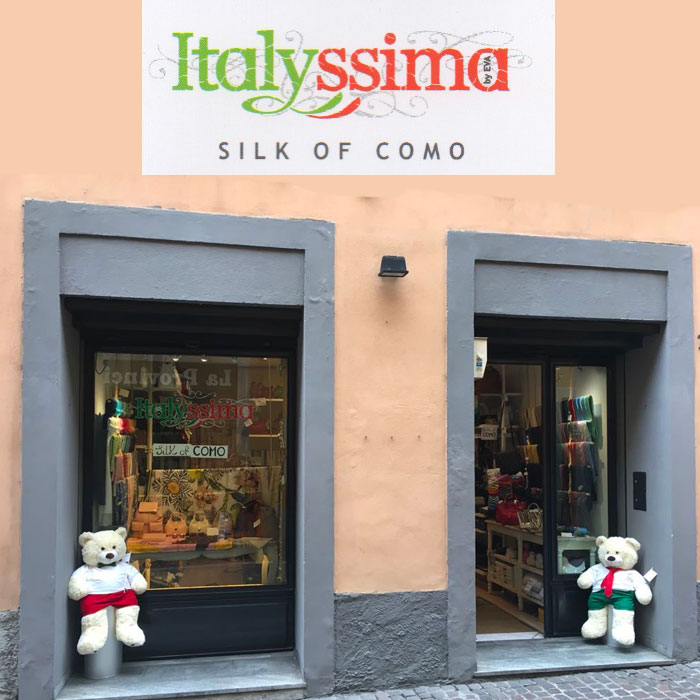 Shopping in Como. Silk of Como