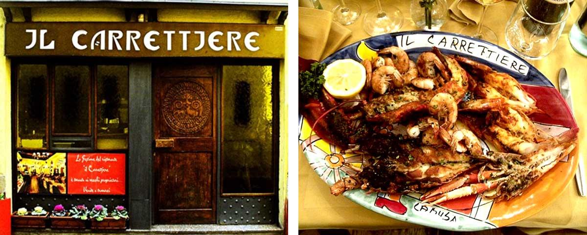 Il Carrettiere Restaurant ib Como, fish dishes